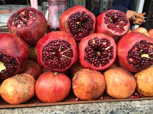 I took this photograph for my daughter because she loves pomegranates.