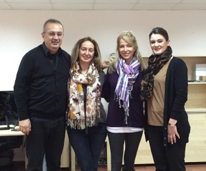 Oktay Duran, Seda Gulmez, me and Ceylan Ucgun at Duran Machinery Factory.